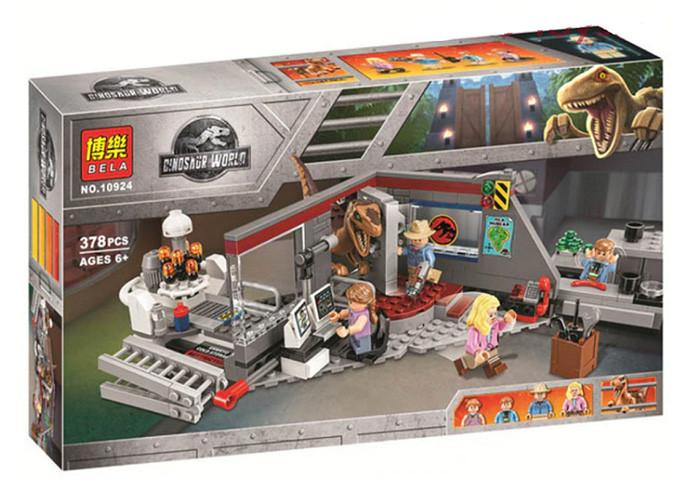 """Конструктор Bela 10924 """"Охота на Рапторов в Парке Юрского Периода"""" 378 деталей - аналог Lego 75932"""