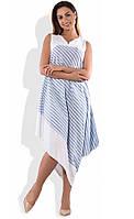 Летнее платье из льна размеры от XL ПБ-132