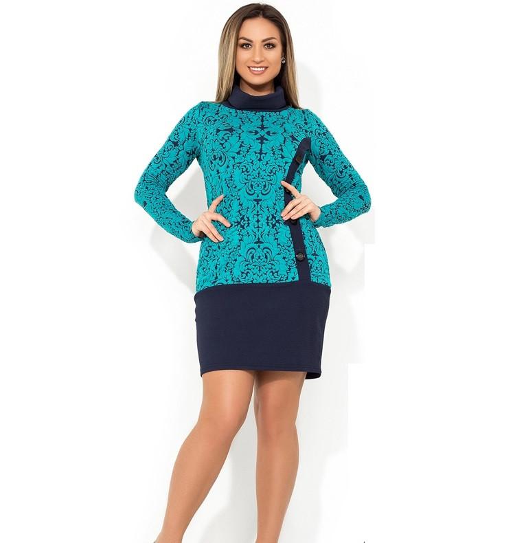 Нарядное платье женское мятное размеры от XL ПБ-181