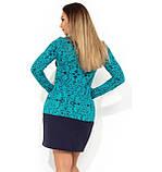 Нарядное платье женское мятное размеры от XL ПБ-181, фото 2