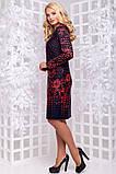 Красивое женское платье миди из трикотажа с принтом размеры от XL ПБ-212, фото 2