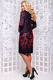 Красивое женское платье миди из трикотажа с принтом размеры от XL ПБ-212, фото 3