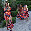 Family look Парные платья Valentino для мамы и дочки , фото 2