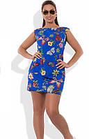 Красиве жіноче плаття міні на літо розміри від XL ПБ-274
