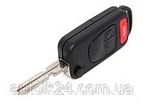 Заготівля корпус выкидного ключа 3 кнопки+Panic Mercedes Лезо HU 39