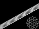 Трос 2мм сталевий DIN3053 (бухта 200м), фото 2