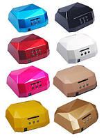 Ультрафіолетова лампа для сушіння нігтів LED+CCFL 36 Вт з таймером 10,30,60 секунд
