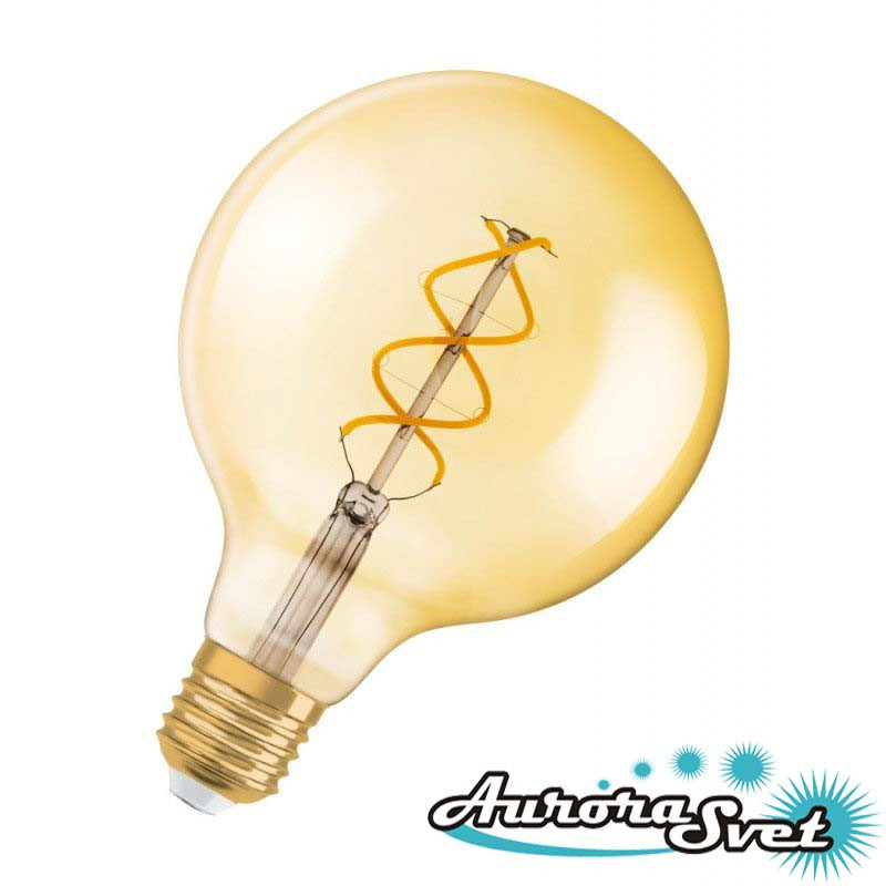 Светодиодная лампа OSRAM RF1906 GLOBE 25 CL 5 W/2000K E27. LED лампа.