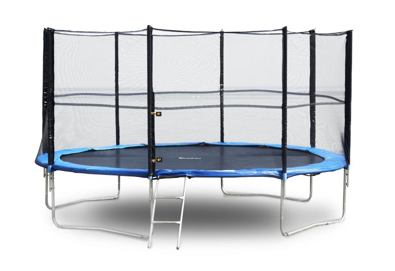 Батут FunFit 435 см защитной сеткой + лестница (Спортивный батут)