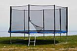 Батут FunFit 435 см защитной сеткой + лестница (Спортивный батут), фото 3