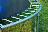 Батут FunFit 435 см защитной сеткой + лестница (Спортивный батут), фото 4