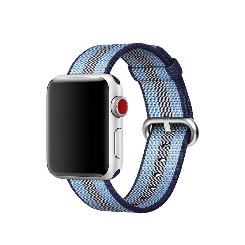 Ремешок для часов Apple Watch 38 мм 40 мм нейлоновый с пряжкой, Blue with dark blue