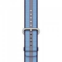 Ремешок для часов Apple Watch 38 мм 40 мм нейлоновый с пряжкой, Blue with dark blue, фото 3