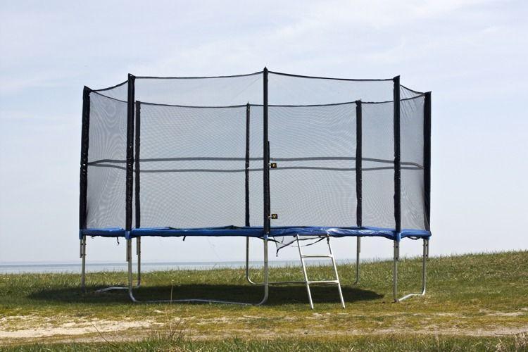 Батут FunFit 490 см с защитной сеткой + лестница (Спортивный батут)