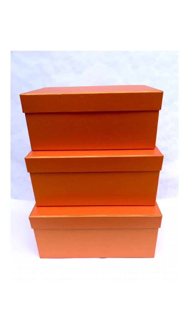 Коробка прямоугольная (Оранж перламутр)