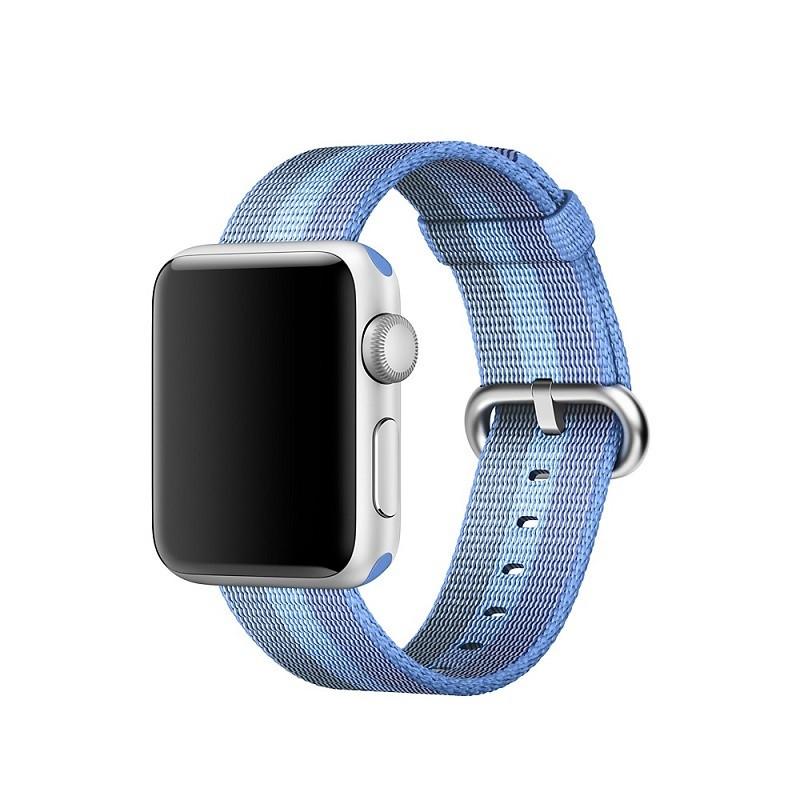 Ремешок для часов Apple Watch 38 мм 40 мм нейлоновый с пряжкой, Blue with light blue