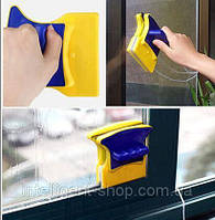 Магнитная двусторонняя щетка для мытья стекол Double Sided Glass Cleaner