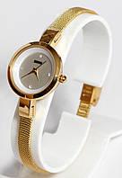 Наручные женские часы Skmei 9177 Marble с золотым ремешком
