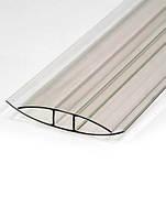 Профиль соединительный поликарбонатный Н-образный, прозрачный, 8 мм