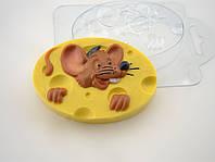 Пластиковая формочка для мыла Мышь в сыре