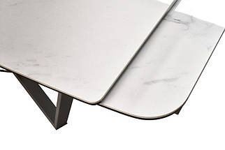 Стол раскладной Harbor Volakas White 160-240 см керамика белая ТМ Concepto, фото 2