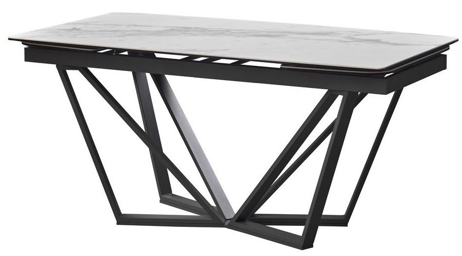 Стол раскладной Harbor Volakas White 160-240 см керамика белая ТМ Concepto