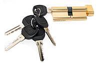 Цилиндровый механизм USK A-70 (35x35) ключ/поворотник Brass