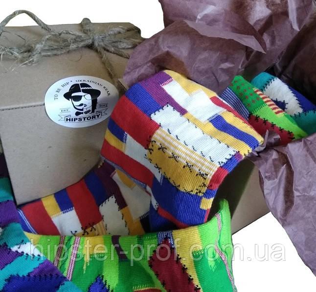 Носки цветные HIPSTORY BOX, сет из трех пар разных цветов р. 36-39