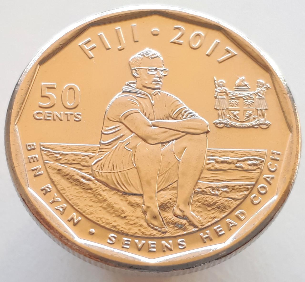 Фиджи 50 центов 2017 - Команда Фиджи по регби 7 чемпионы Олимпиады 2016