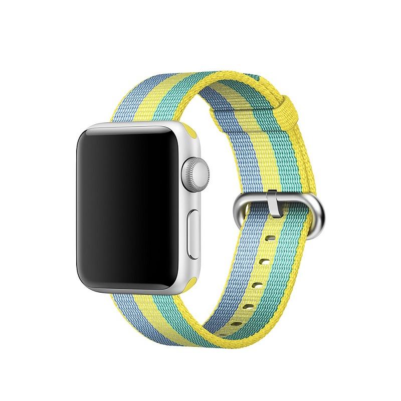 Ремінець для годинника Apple Watch 42 мм 44 мм нейлоновий з пряжкою, Blue-yellow-green