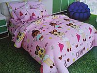 Детское полуторное постельное «Кукла LOL» бязь