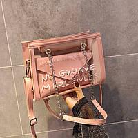 Женская прозрачная сумка с кошельком Un Goyave Merveilles розовая