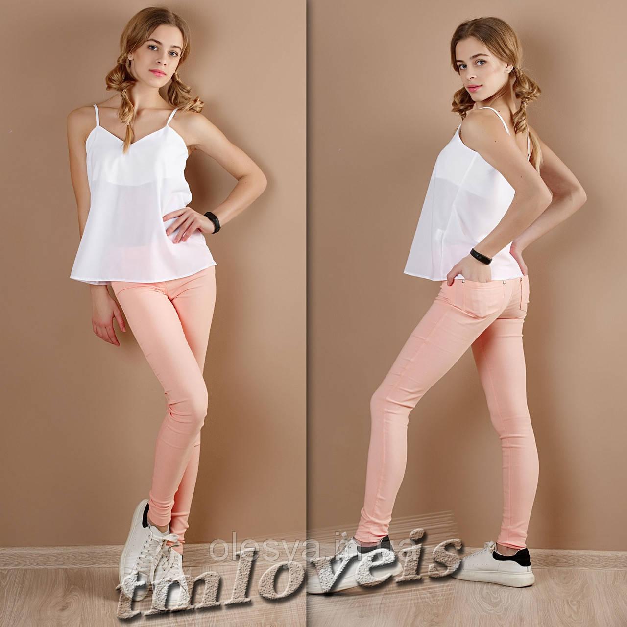 Летние брюки  персик ТМ  Loveis  для девочек Размеры 140- 170