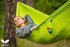 Eco Гамак Levitate CHILL (2,9x1,45м), из переработанных пластикових бутылок acid lime