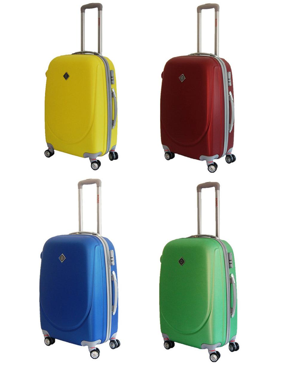 Дорожный чемодан Bonro Smile пластиковый с двойными колесами (Большой)