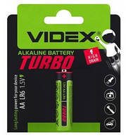 Батарейка щелочная Videx lr6/aa turbo