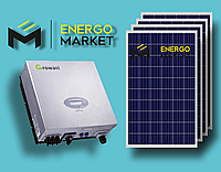 Сетевая солнечная электростанция 5 кВт (1-фазный, 1 МРРТ)