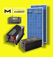 Автономная солнечная электростанция 0,5 кВт с инвертором 1 кВт
