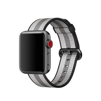 Ремешок для часов Apple Watch 42 мм 44 мм нейлоновый с пряжкой, Gray with dark gray