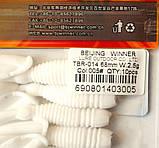 Силиконовая съедобная приманка Червь (Sector Worm), TBR-014, цвет 005, 10шт., фото 4