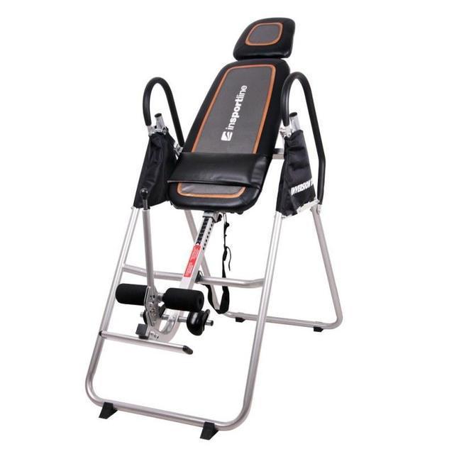 Инверсионный стол inSPORTline Inverso (тренажер для позвоночника спины механический складной)