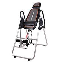 Инверсионный стол inSPORTline Inverso (тренажер для позвоночника, спины, механический, складной)