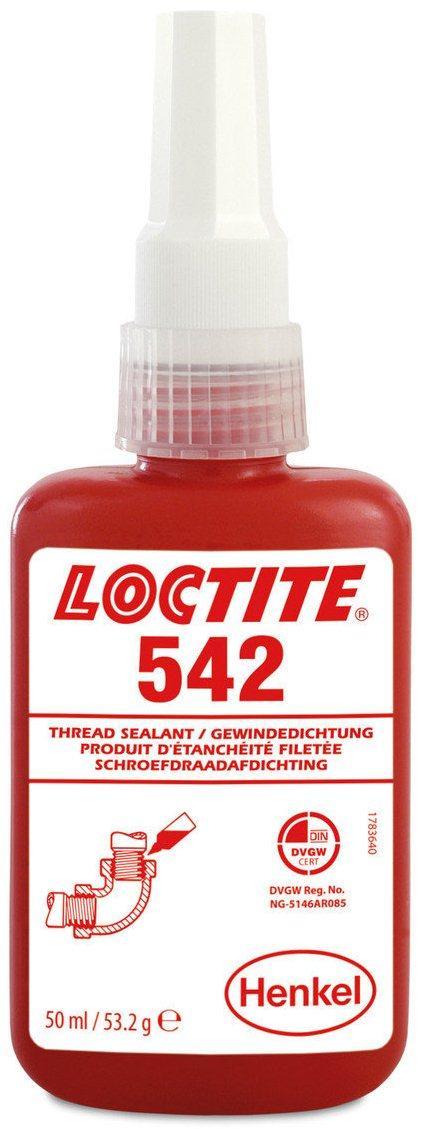 Резьбовой герметик средней прочности с повышенной текучестью Loctite 542, 50 мл