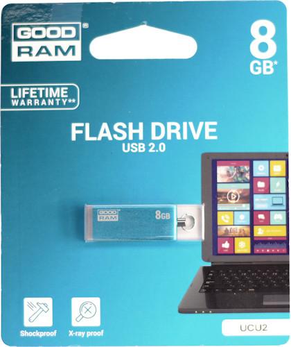 GoodRam USB 2.0 CUBE Blue 8GB (UCU2-0080B0R11)