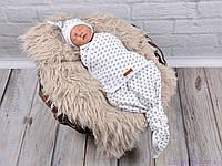 """Пеленки на липучках для новорожденных """"Каспер"""" безразмерные с шапочкой, Звездочка, фото 1"""
