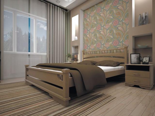 Ліжко з натурального дерева Атлант 1 180х200