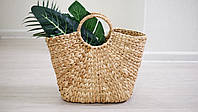 Плетеная сумочка с острова Бали Водяная лилия без подкладки