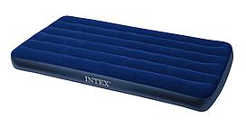 Надувной матрас Intex 191x76 см велюровый водонепроницаемый ПВХ