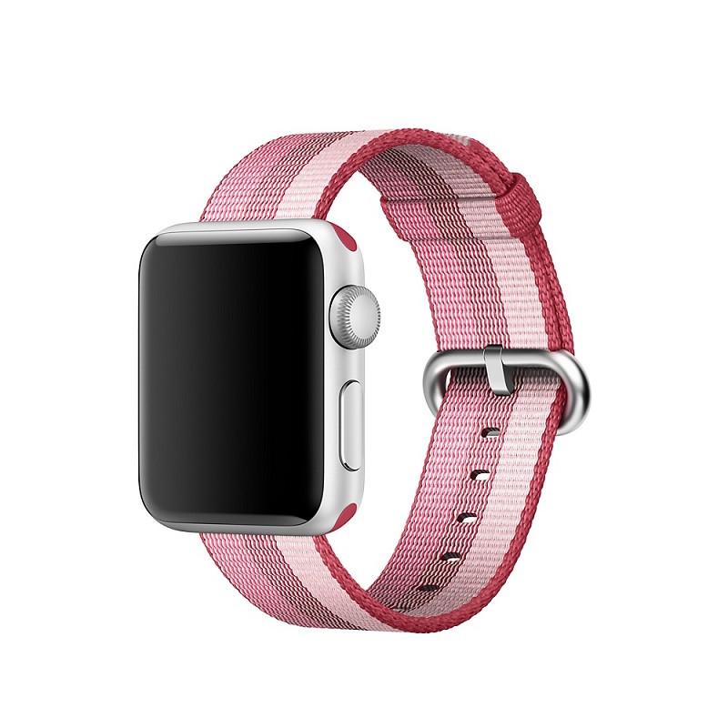 Ремешок для часов Apple Watch 42 мм 44 мм нейлоновый с пряжкой, Berry color