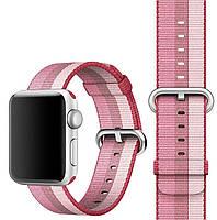 Ремешок для часов Apple Watch 42 мм 44 мм нейлоновый с пряжкой, Berry color, фото 4